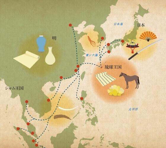 琉球王国時代の貿易 イメージ